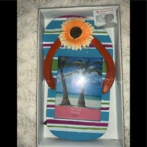 Flipflop Sunflower Picture Frame
